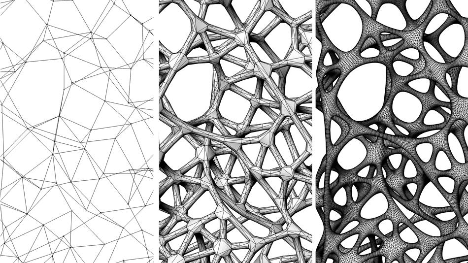 Exoskeleton bespoke geometry Pattern in interior design definition